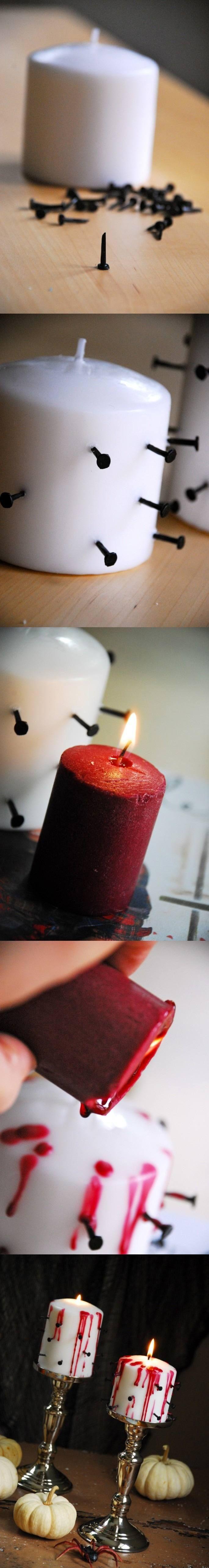 !Horroríficas velas sangrientas!