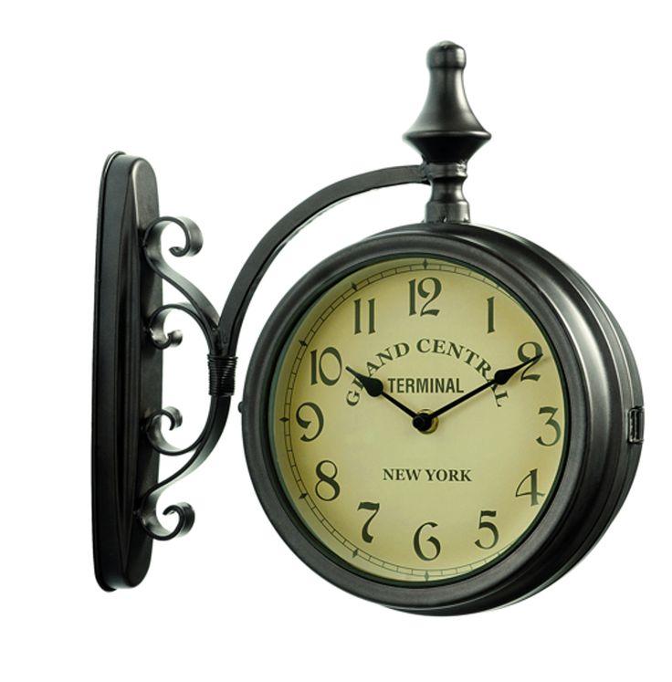 Horloge de Gare Grand Central Double Face – Horloge d'extérieur – dia. : 17cm