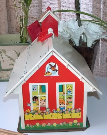 Vintage Fisher Price School House Set