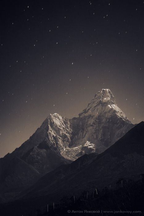 Mt. Everest, between Tibet/China and Nepal