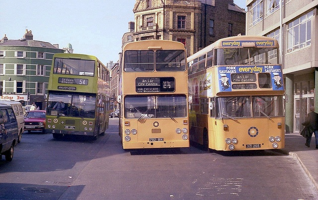 Three faces of Dublins deckers., via Flickr.