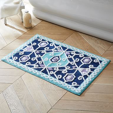 Best Bathmat Images On Pinterest Bath Mats Bathroom Ideas - Turquoise bathroom mats for bathroom decorating ideas