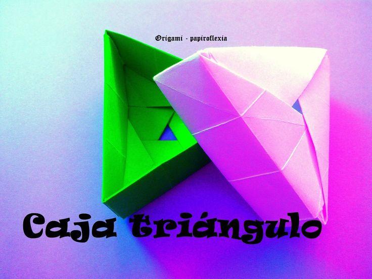 Origami - Papiroflexia. Caja triangulo                                                                                                                                                                                 Más