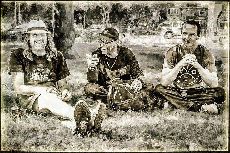 https://flic.kr/s/aHskXzMKjq | Three Nice Guys | Street guys. A  happy encounter.