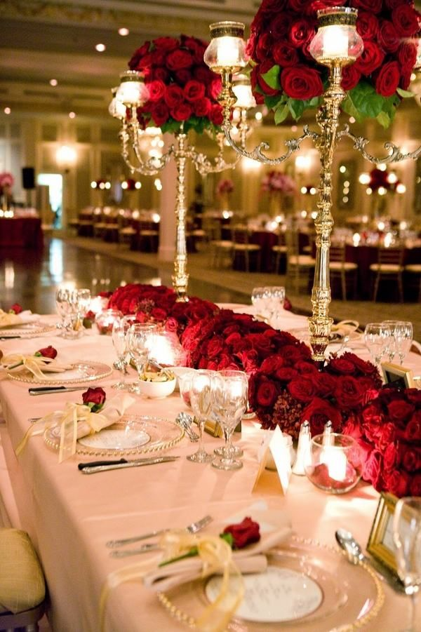 Vintage Wedding Decoration Ideas Impressive Table Centerpieces Red Roses