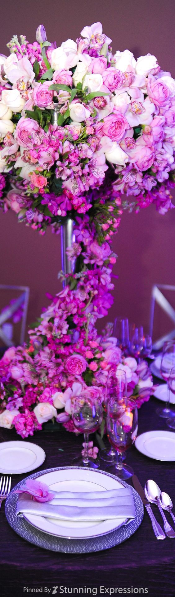 Tall centerpiece  Tall CenterpieceFlower CenterpiecesCentrepiecesWedding  CenterpiecesWedding ReceptionsReception  319 best Over the Top   Tall Wedding Centerpieces images on  . Flower Centerpieces For Wedding Reception. Home Design Ideas