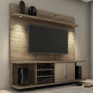 entertainment center with display shelf made from pallets - Built In Entertainment Center Design Ideas
