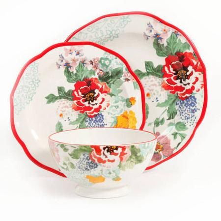 The Pioneer Woman Country Garden 12-Piece Decorated Dinnerware Set