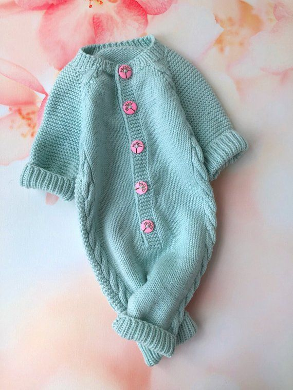 95add57cc1d Warm Knit Newborn Baby Girls Long Sleeve Bodysuit knit Romper Jumpsuit  Outfit Clothes   baby girl ne