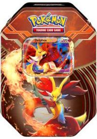 :O I want this tin.. I love Delphox.. I bought the Fenniken box.  Now all I need is this beauty.  Because, well, WHAT DOES DELPHOX SAY?
