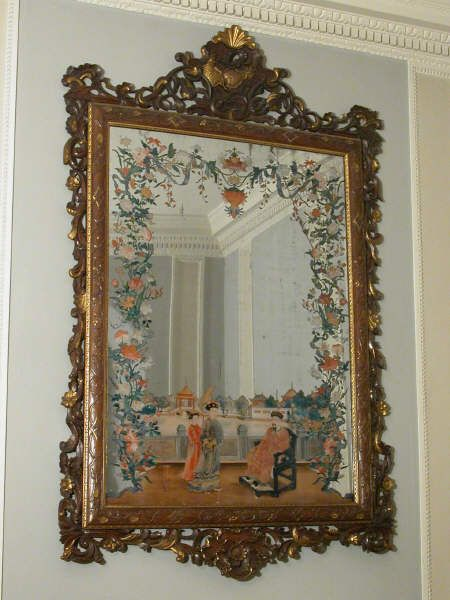 Chinese mirror painting at Shugborough, one of a pair, mid-18th-century. Inv. no. NT1270818.2. ©National Trust Collections