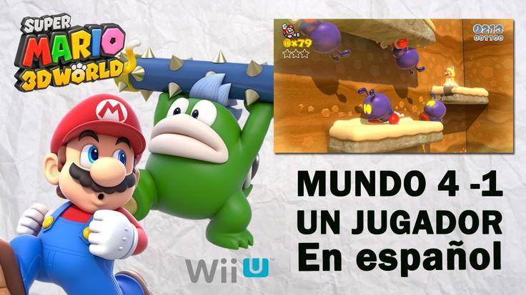 Super Mario 3D World Mundo 4 - 1 en español. Gameplay de Super Mario 3D World para Wii U, mundo 4 parte 1 en español. Visita mi sitio web: http://www.adverglitch.com