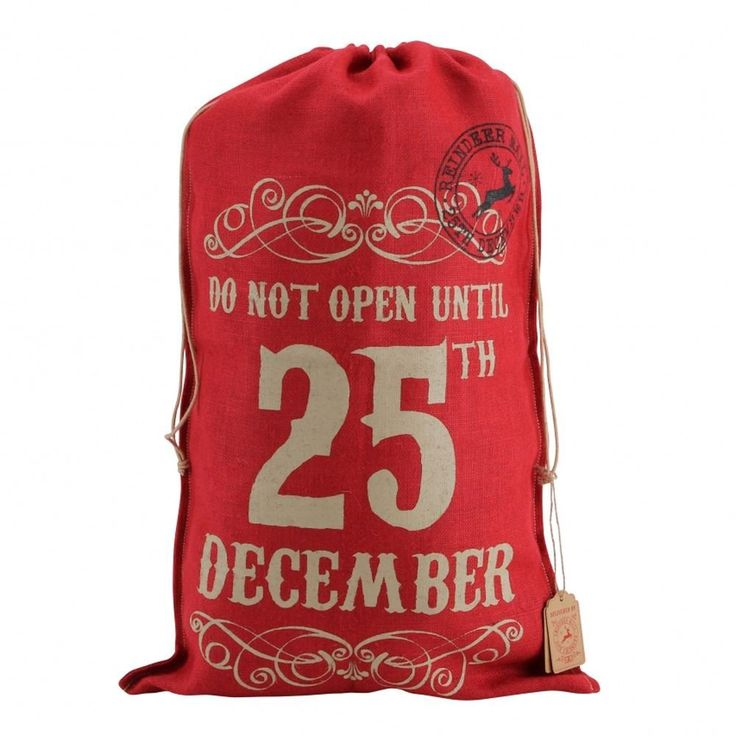 Chaussette de Noël portant l'inscription en anglais « Do Not Open Until 25th December »: Amazon.fr: Cuisine & Maison