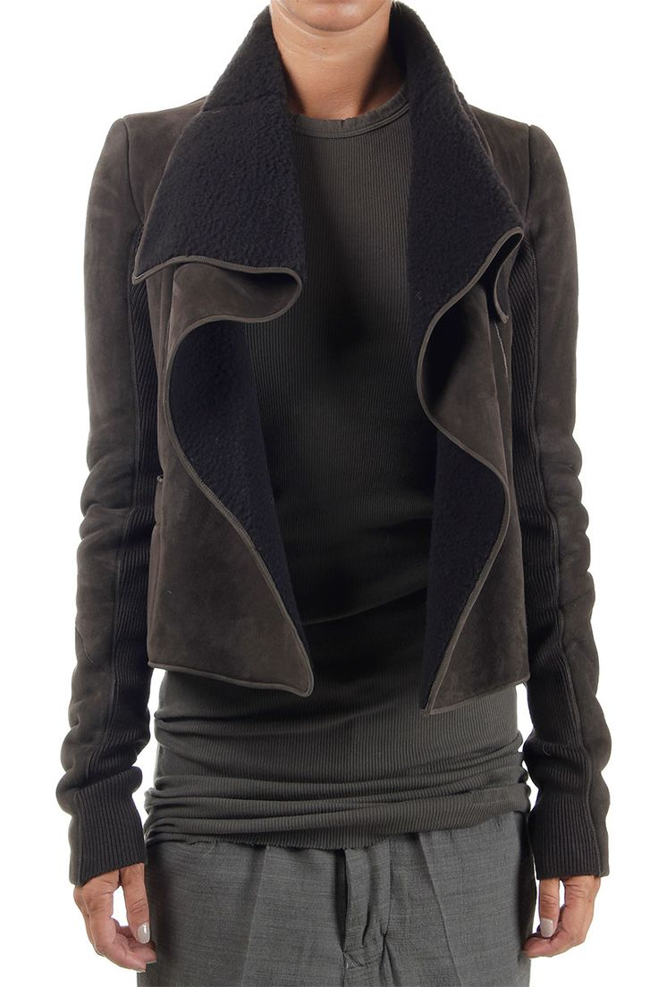 "Rick Owens Women ""BIKER"" Shearling Jacket - Spence Outlet"