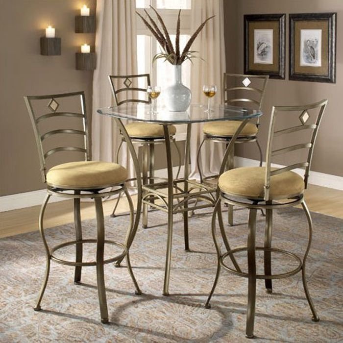 hillsdale marin 5 piece bar height bistro table set 4815ptbsmn5