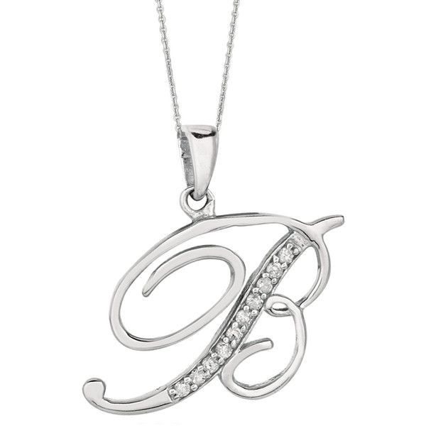 The 25 best letter pendants ideas on pinterest emeralds for b sterling silver rhodium plated script initial letter with diamonds letter pendantsinitial pendantchain pendantsinitial mozeypictures Gallery