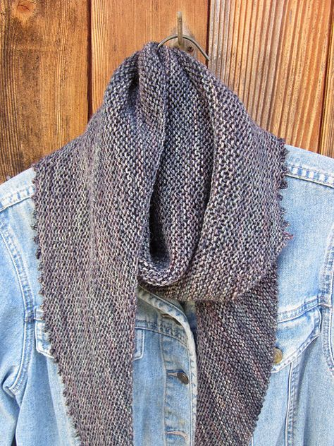 Be Simple Is An Asymmetrical Triangular Shawl That Is