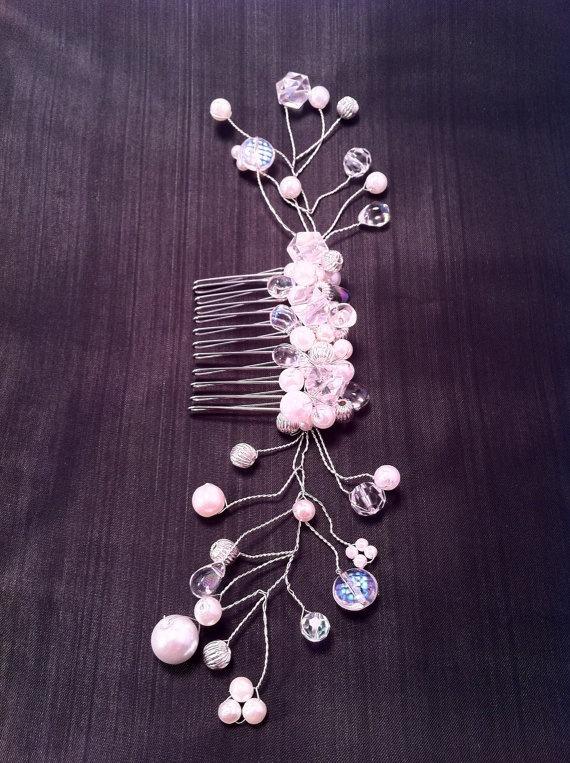 Bridal Hair Comb Wedding Pearl by ConstantlyUnfolding on Etsy, $22.00Clothes'S Hair Stuff, Hair Accessories, Hair Combs Pin, Bridal Hair Combs, Hair Combs Wedding