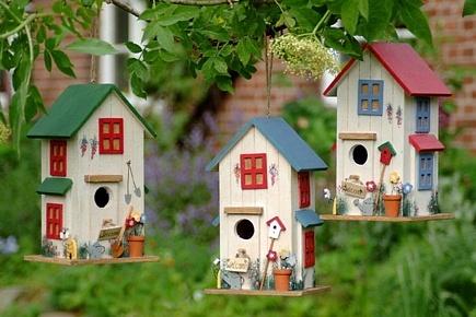 Casa pajaro madera 3 mod casitas para pajaros for Casitas de jardin de madera