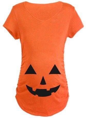 Jack-O-Lantern Maternity T-Shirt $15.99 http://www.cafepress.com/mf/81770438/jackolantern_maternity?pid=4190070 #halloween #maternity #costume