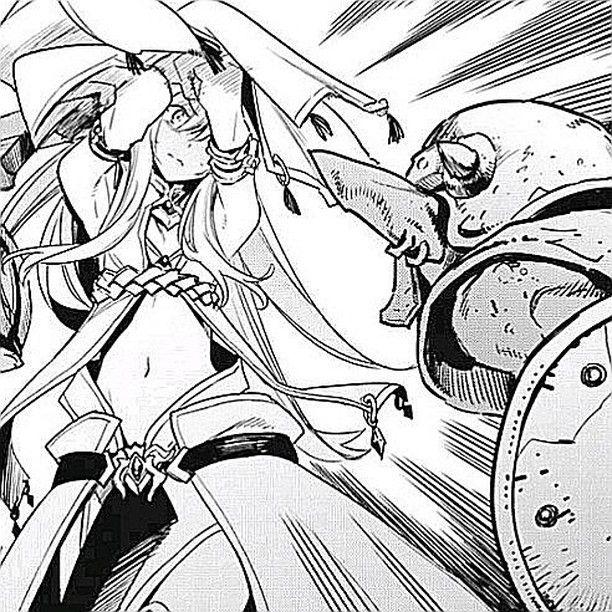 I M So Glad The Lil Priestess Has Learnt Some Moves To Defend Herself Manga Goblin Slayer Slayer Priestess Goblin