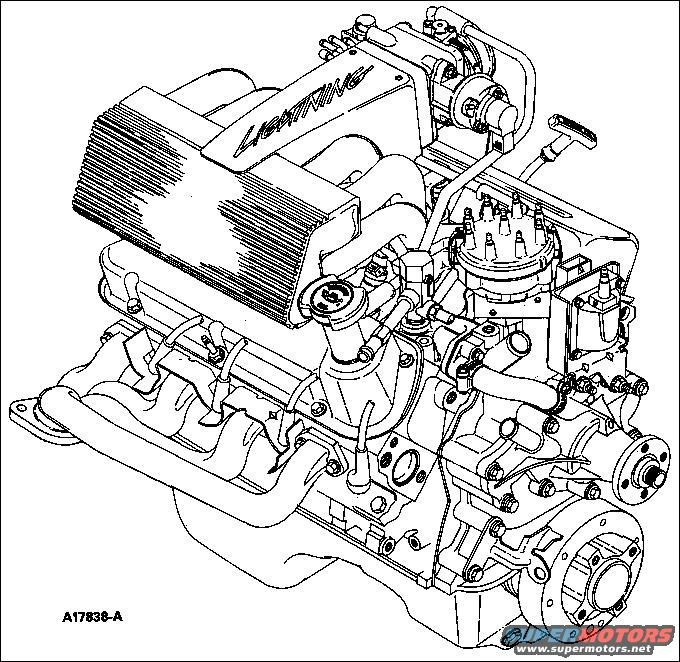 1st Gen Ford Lightning Engine Drawing.