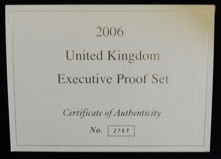 2006 United Kingdom Executive Proof Set in Wooden Box and COA