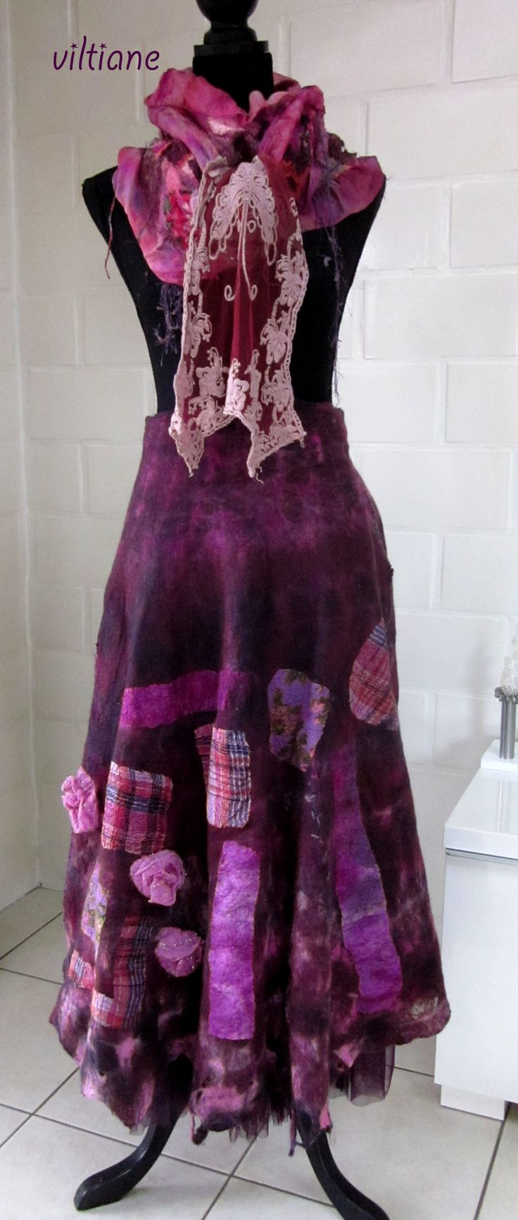 nuno felted skirt