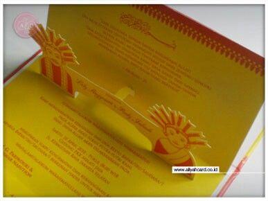 Betawi pop up invitations