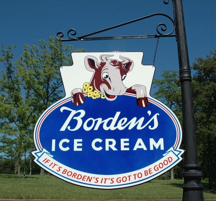 BORDEN'S ELSIE THE COW MILK & ICE CREAM DAIRY FARM KITCHEN 2-SIDED SWINGER SIGN