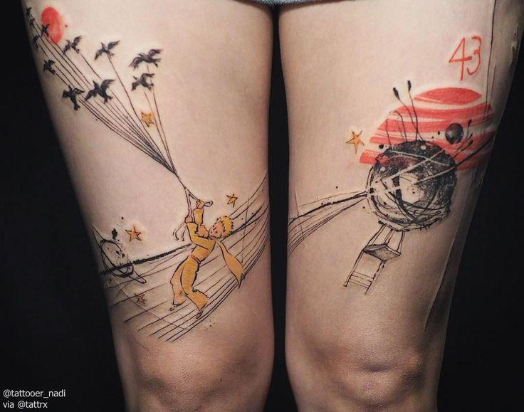 Tattooer Nadi | Seoul Korea Little Prince naditat2@gmail.com