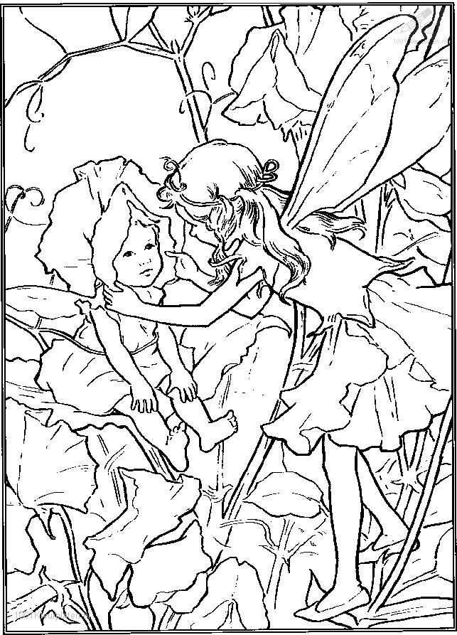 Elf And A Baby Jpg 643 215 893 Pixels Faerie Coloring Pages Faerie Coloring Pages