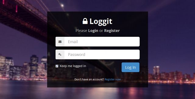 Loggit is a beautiful fully responsive HTML login page template. It features an elegant and clean design that can be incorporated into any website that requires a login and registration page.