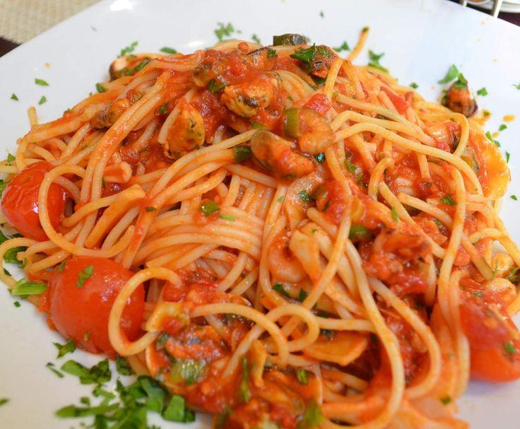 Rezept Spaghetti Frutti di Mare von MissCupcake - Rezept der Kategorie Hauptgerichte mit Fisch & Meeresfrüchten