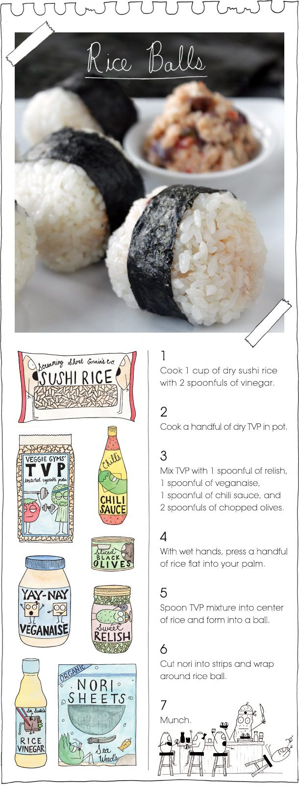 vegan rice balls....maybe subbing out some vegan stuff for the real deal?