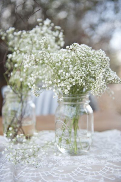 Baby's breath is the perfect winter flower: http://www.stylemepretty.com/canada-weddings/alberta/calgary/2013/03/11/calgary-winter-styled-shoot-from-hera-weddings-events/   Photography: http://deseraeevenson.com/