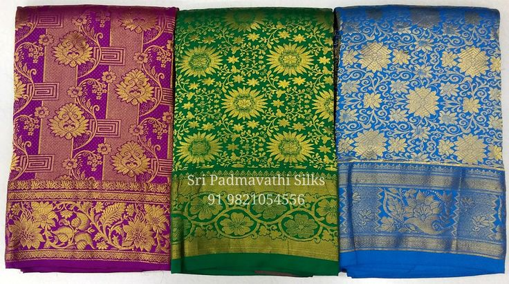 Varshini Collection - Kancheepuram handloom pure silk bridal brocade wedding sarees with designs of the forest, vines and leaves and flowers, to deck the beautiful bride with the glory of nature on her special day. Book now 91 9821054556 Sri Padmavathi Silks, the only South Indian store in Dombivli. Kancheepuram handloom pure silk bridal sari shop in Mumbai, India. International shipping available. All credit and debit cards accepted. Wholesale orders accepted. www.sripadmavathisilks.com