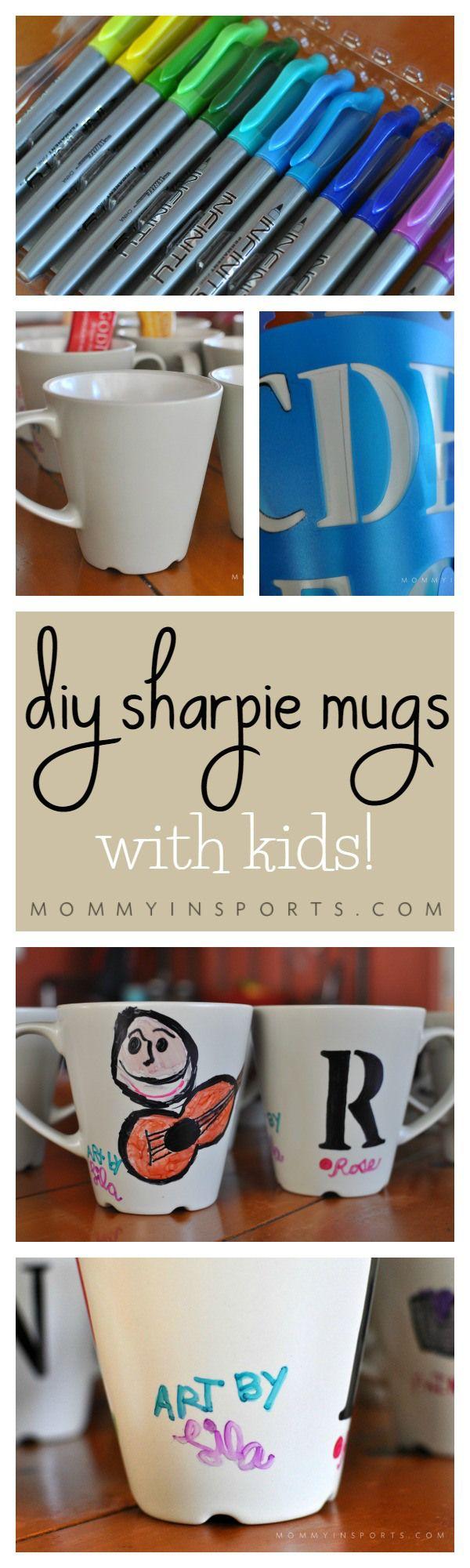 DIY Sharpie Mugs with Kids | Crafts, Christmas gift ideas ...