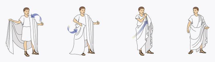 Steps on Draping a Toga