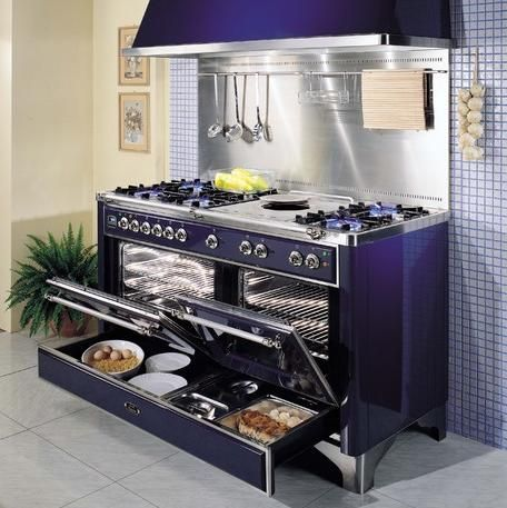 What an oven! Majestic Range with Warming Drawers! #luxury #kitchen # appliances