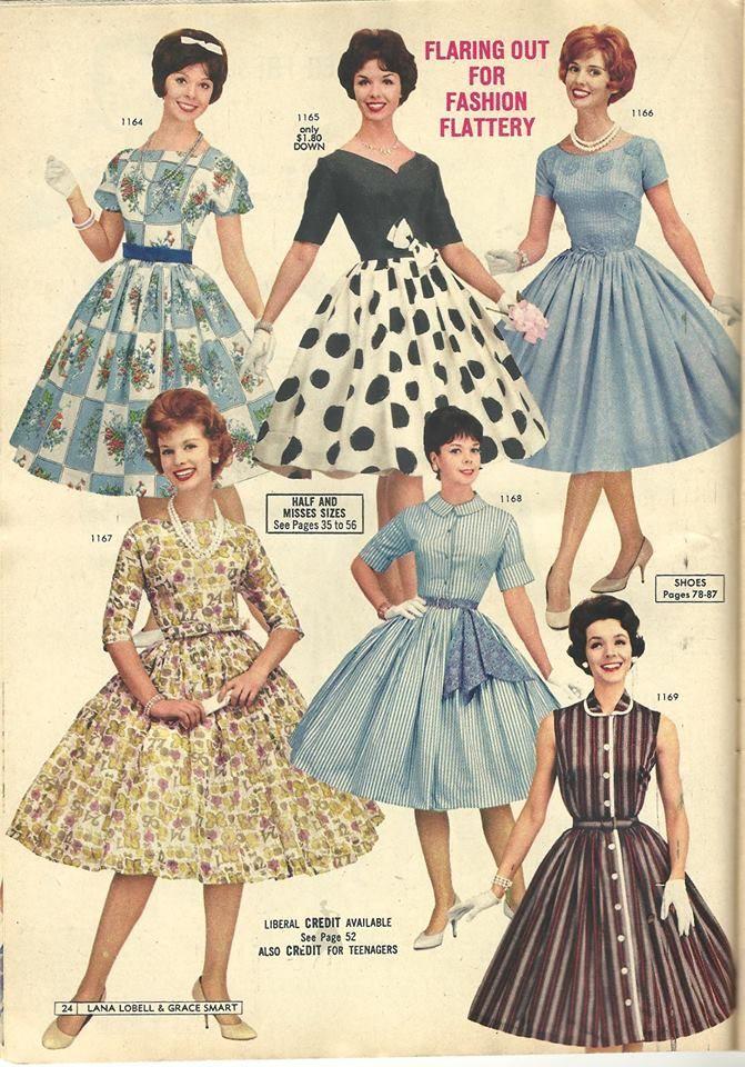 Lana Lobell Summer 1961 Polka Dot Please Retro Fashion Vintage Dresses 1960s Fifties Fashion