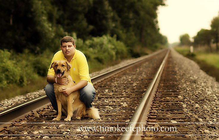 Senior Picture or any portrait...love on railroad track with fav pet!! :-)