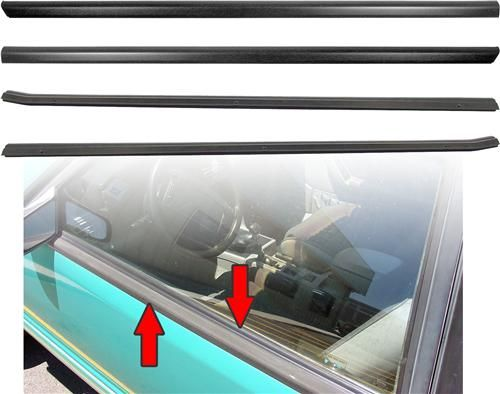 Seal up your Fox windows with this 1979-1993 Mustang outer door belt molding and seal kit!