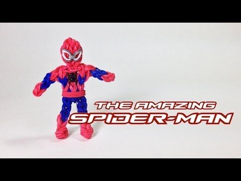 Rainbow Loom Avengers Series: The Amazing Spider-Man (UPDATED VERSION). (The boots and arms are more detailed and look like PG's Captain America which I have made. My Captain can almost stand on his own!~RMK)