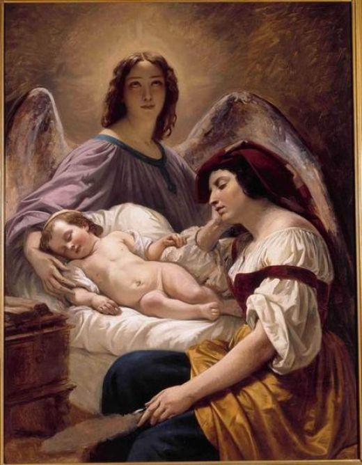 O Anjo da Guarda por Decaisne Henri, 1836
