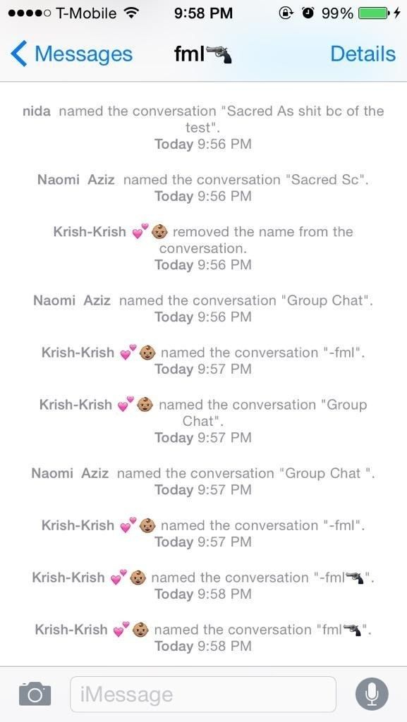 Funny dating group chat names