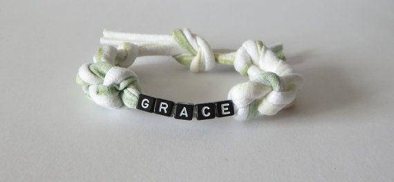 Grace Bracelet T Shirt Yarn Bracelet Word Fabric by TiStephani