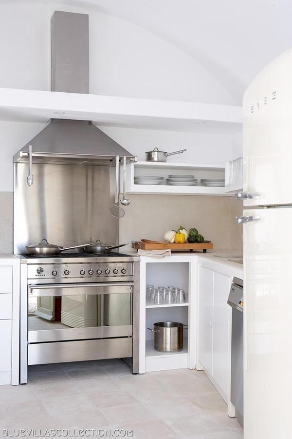 Villa Fabrica Kitchen   Luxury Villas in Santorini   Blue Villas Collection