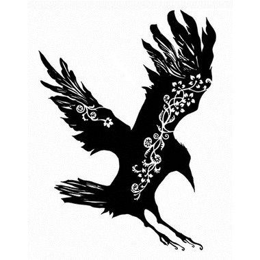 Magic, transformation and other meanings associated with crow tattoos.