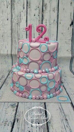 Birthday -  Bat Mitzvah fondant cake by Inbal's Sweet Art
